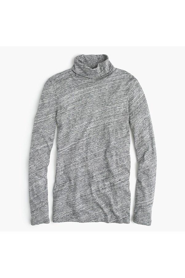 "<strong>31. A turtleneck</strong> <br><br> 'Tissue' turtleneck t-shirt by J.Crew, $41.30, <a href=""https://www.jcrew.com/au/womens_category/Tshirtsandtanktops/longsleevetshirts/PRDOVR~17656/17656.jsp"">J.Crew</a>"