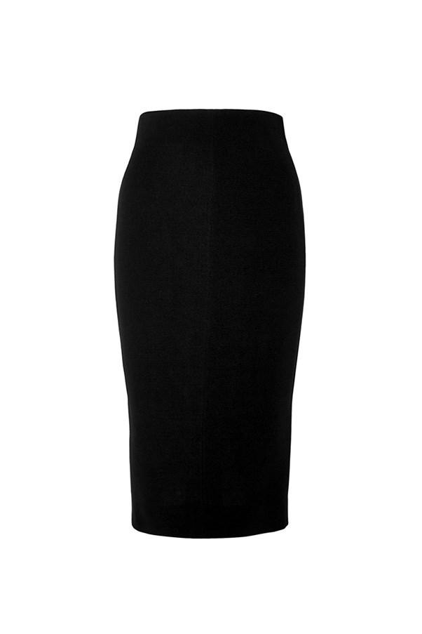 """<strong>36. A pencil skirt</strong> <br><br> Silk and wool-blend crepe pencil skirt by Victoria Beckham, $1830, <a href=""""https://www.net-a-porter.com/au/en/product/714858/victoria_beckham/silk-and-wool-blend-crepe-pencil-skirt"""">Net-A-Porter</a>"""