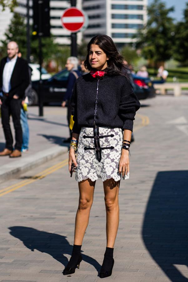 <strong>37. A mini-skirt</strong> <br><br> Leandra Medine