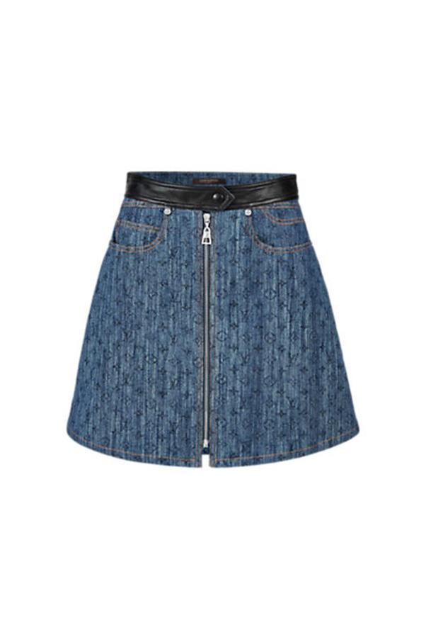 "<strong>37. A mini skirt</strong> <br><br> Monogram denim skirt by Louis Vuitton, price on application, <a href=""http://au.louisvuitton.com/eng-au/stories/cruise-2016-looks#/1A13VI"">Louis Vuitton</a>"