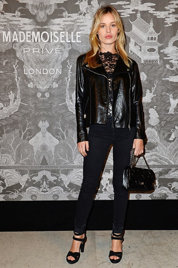 <strong>38. A black skinny-leg jean</strong> <br><br> Georgia May Jagger in Chanel