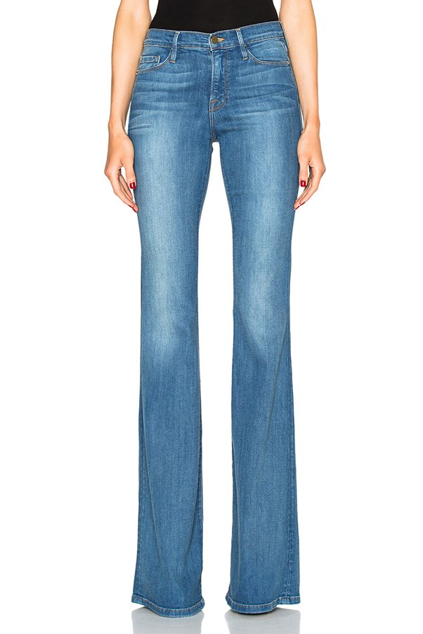 """<strong>39. A flared pant</strong> <br><br> 'Karlie Forever Flare' jeans by Frame Denim, $336, <a href=""""http://www.fwrd.com/product-frame-denim-karlie-forever-flare-in-linden/FRAM-WJ111/?d=Womens&source=google&currency=AUD&mkwid={ifsearch:s}{ifcontent:c}17lpycof_dc