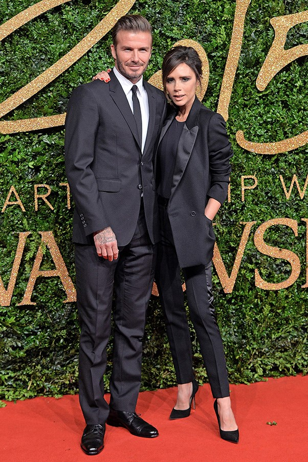 <strong>41. A cropped black pant</strong><br><br> David and Victoria Beckham