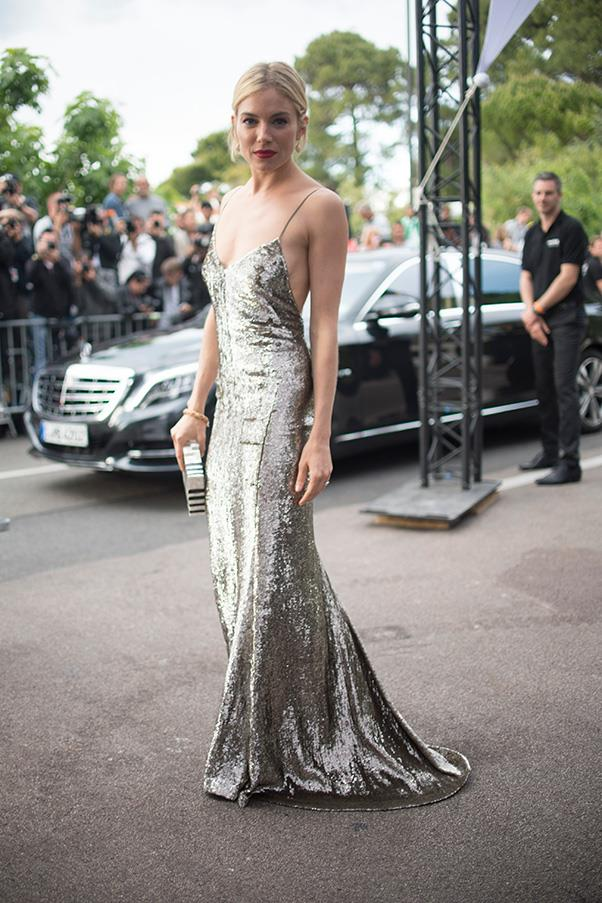<strong>35. A dress appropriate for formal occasions</strong><br><br> Sienna Miller in Calvin Klein Collection
