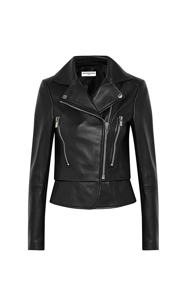 "<strong>44. A leather moto jacket</strong> <br><br> Leather biker jacket by Balenciaga, $5,180, <a href=""https://www.net-a-porter.com/au/en/product/619880/Balenciaga/leather-biker-jacket"">Net-A-Porter</a>"