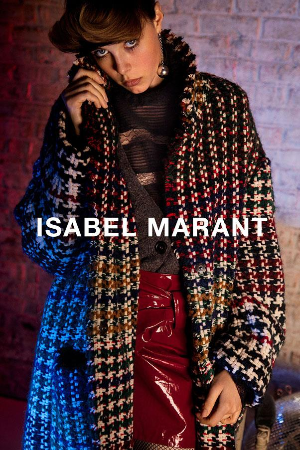 <strong>Isabel Marant</strong><br><br> Modelled by Edie Campbell, shot by Inez and Vinoodh