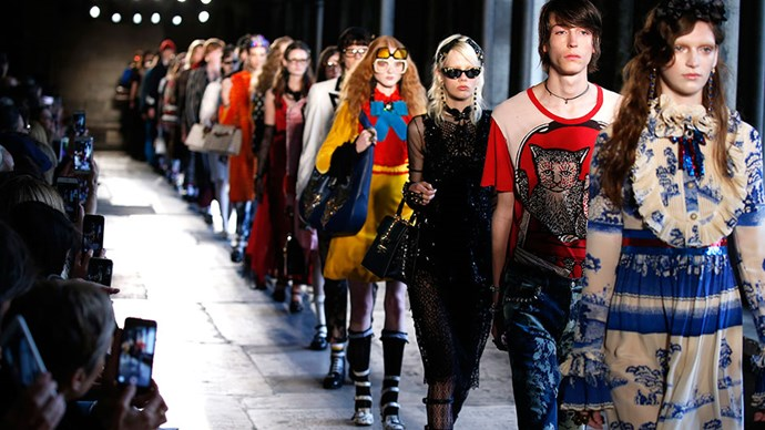 All the moments you need to see from Gucci's cruise show in London.