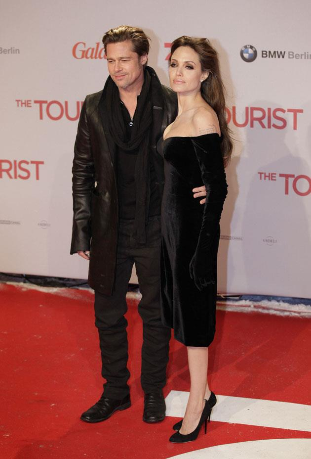 <strong>2010</strong> <br><br> In Versace at <em>The Tourist</em> Berlin premiere.