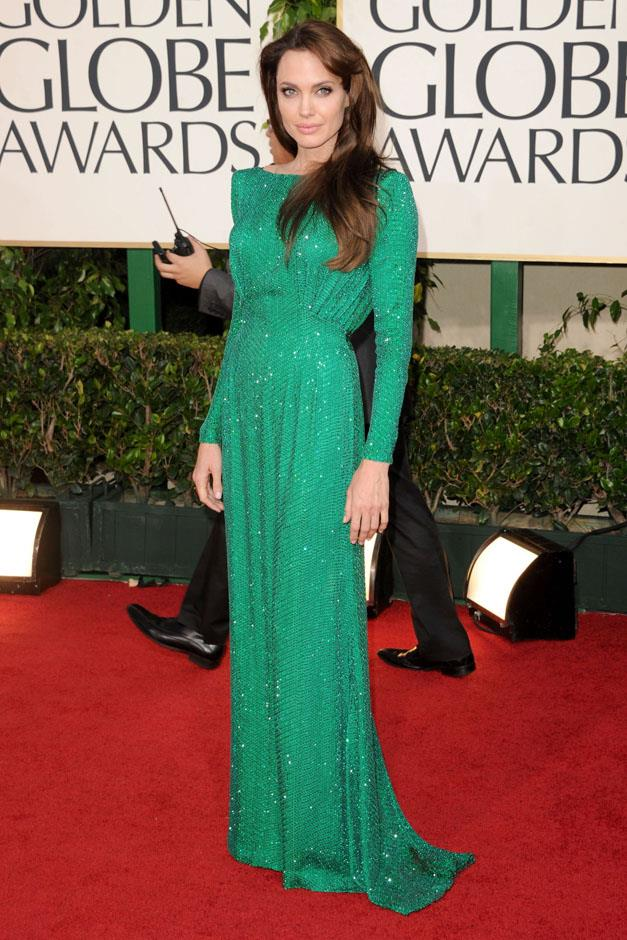 <strong>2011</strong> <br><br> In Atelier Versace at the Golden Globe Awards.