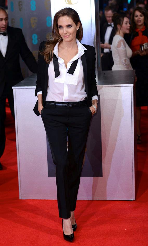 <strong>2014</strong> <br><br> In Saint Laurent at the British Academy Film Awards.