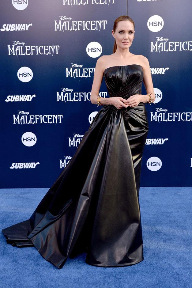 <strong>2014</strong> <br><br> In Versace at the <em>Maleficent</em> Los Angeles premiere.
