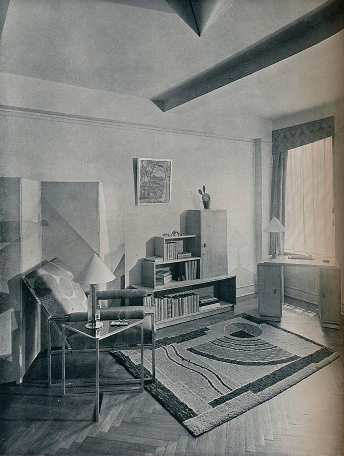 <strong>1930</strong> <br><br> In a room designed by Alexander Kachinsky, the focus shifts to shape and form.