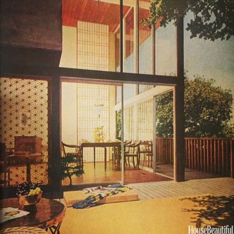 <strong>1962</strong> <br><br> A starry screen adds a new motif to this modernist masterpiece of a design. Screens featuring similar designs (whether folding or an architectural element) bring character to homes across the country.