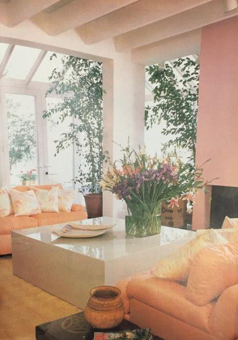 "<strong>1982</strong> <br><br> Though this room is a couple years too early for the ""Miami Vice"" permutation of the pastel craze, the faded pink and peach hues are very on-trend."