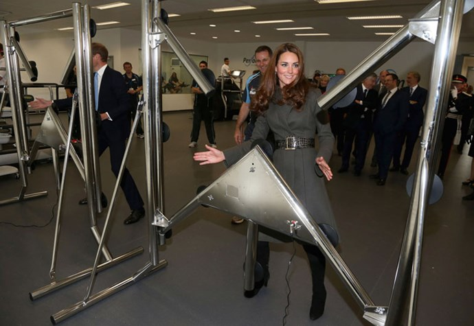 <strong>October 9, 2012</strong> <br><br> The Reiss coat was back in action when the duchess hit up a new gym in Burton-Upon-Trent in England.