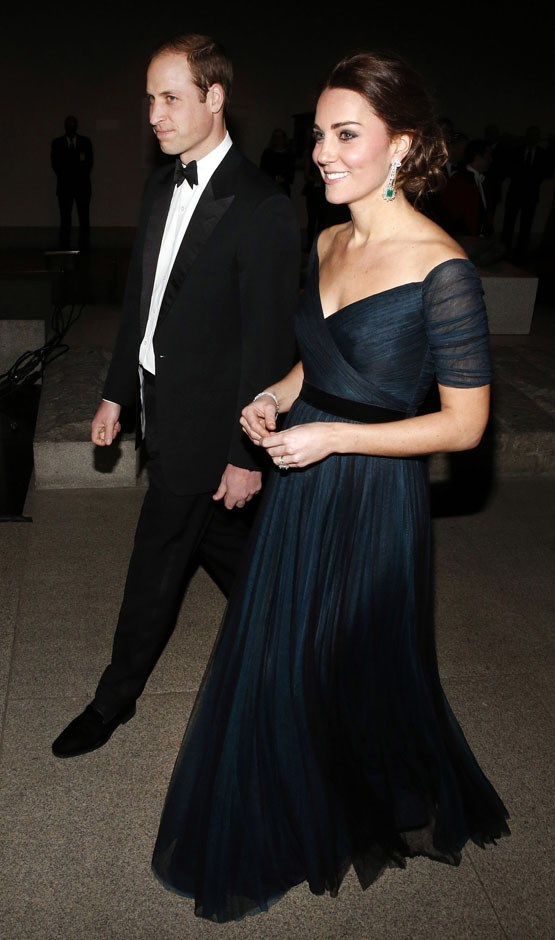 <strong>December 9, 2014</strong> <br><br> It wasn't the Met Gala, but a super-fancy dinner to celebrate the 600th anniversary of St. Andrews that got Kate dressed up in Jenny Packham again at the Metropolitan Museum of Art in New York. Remember: She was pregnant with Charlotte on this trip!