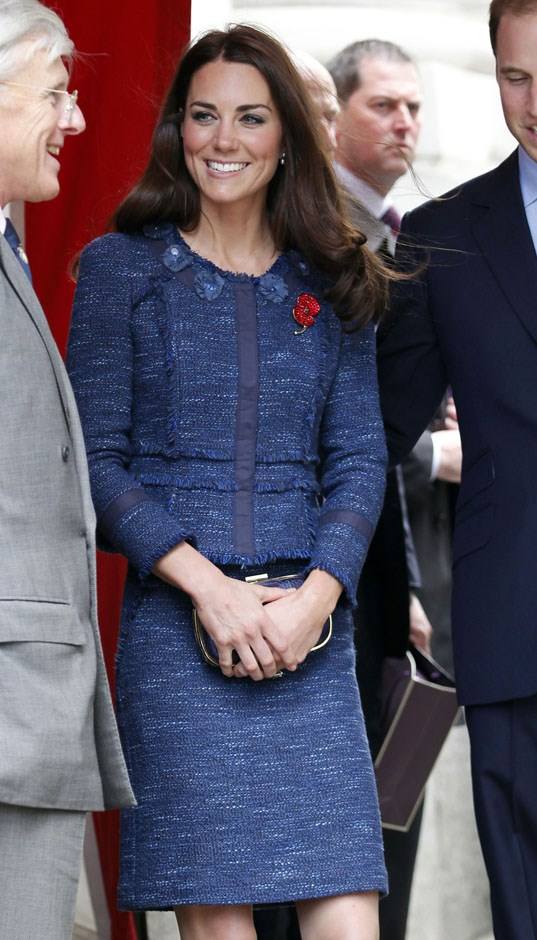 <strong>April 26, 2012</strong> <br><br> Kate loves this Rebecca Taylor tweed skirt suit, as you'll soon see. She first wore the suit while attending the Scott-Amundsen Centenary Race in London.