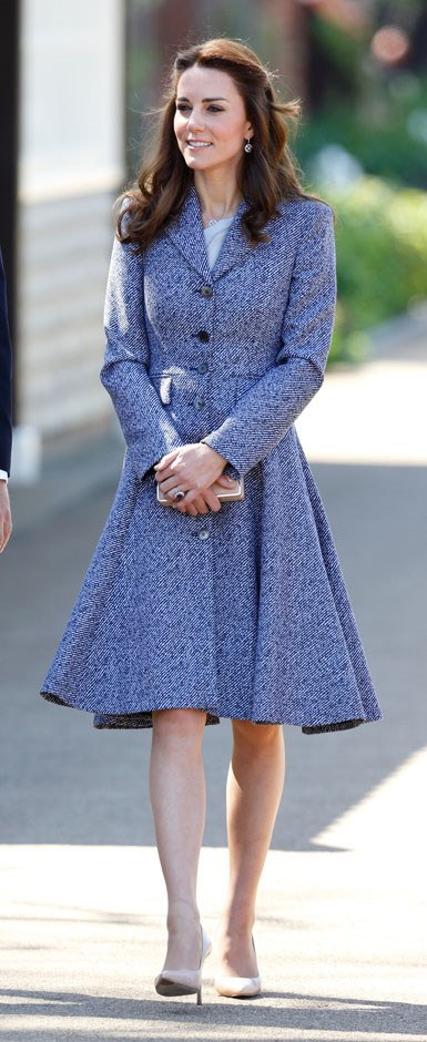 <strong>May 4, 2016</strong> <br><br> She wore the coat dress again to open the Magic Garden at Hampton Court Palace in London.