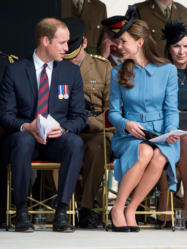 <strong>June 6, 2014</strong> <br><br> Will and Kate had some nice body language at a commemoration of the Normandy Landings in Arromanches, France.