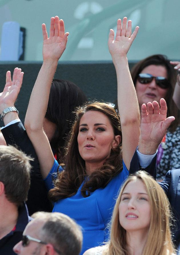 <strong>August 2, 2012</strong> <br><br> She wore the same Stella McCartney dress to Wimbledon. Best part: She did the wave.