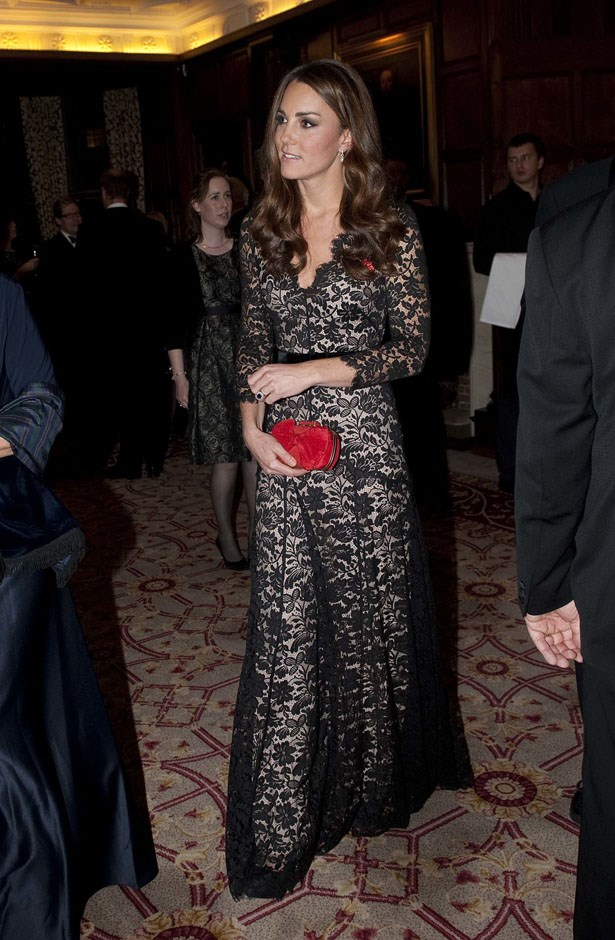 <strong>November 8, 2012</strong> <br><br> She wore it a second time to grace a 600th anniversary reception and dinner for St. Andrews in London.