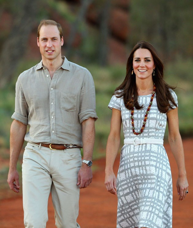 <strong>April 22, 2014</strong> <br><br> Kate wore it again while visiting Ayers Rock in Australia with Will.