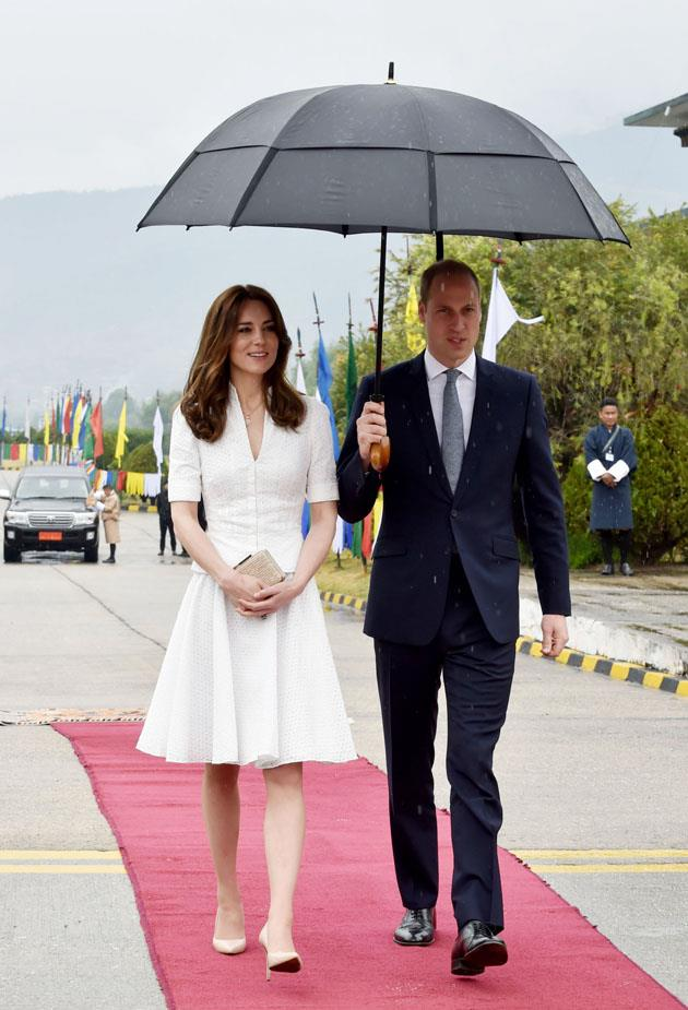 <strong>April 16, 2016</strong> <br><br> When departing from Bhutan during the couple's tour of India and Bhutan, Kate repeated the dress.