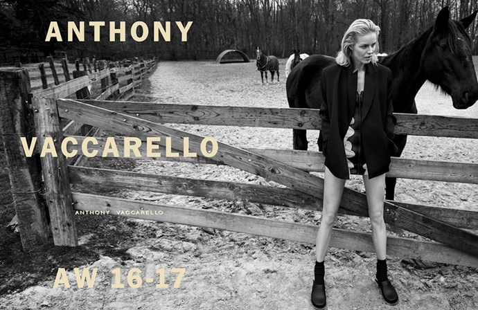 <strong>Anthony Vaccarello</strong><br><br> Modelled by Eva Herzigova, shot by Inez and Vinoodh