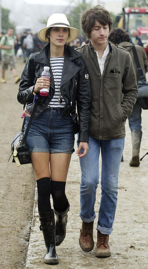<strong>Alexa Chung and Alex Turner</strong> <br><br> Indie love died in the Glastonbury mud the day Alexa and Alex broke up.
