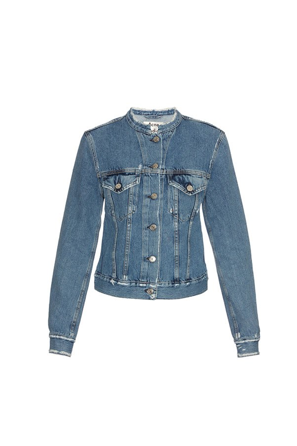 """<strong>45. A denim jacket</strong> <br><br> Top distressed denim jacket by Acne Studios, $540, <a href=""""http://www.matchesfashion.com/au/products/Acne-Studios-Top-distressed-denim-jacket-1036731"""">Matches Fashion</a>"""