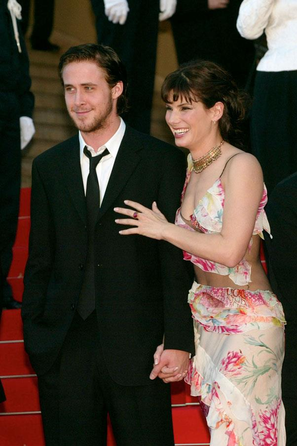 <strong>Ryan Gosling and Sandra Bullock</strong> <br><br> One of the more unexpected pairings, they dated from 2002 to 2003 after meeting on the set of <em>Murder by Numbers</em>.