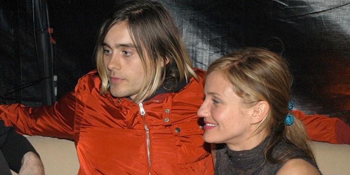 <strong>Jared Leto and Cameron Diaz</strong> <br><br> Cameron clearly has a thing for rock stars. Their romance ended in 2003 after four years of dating.