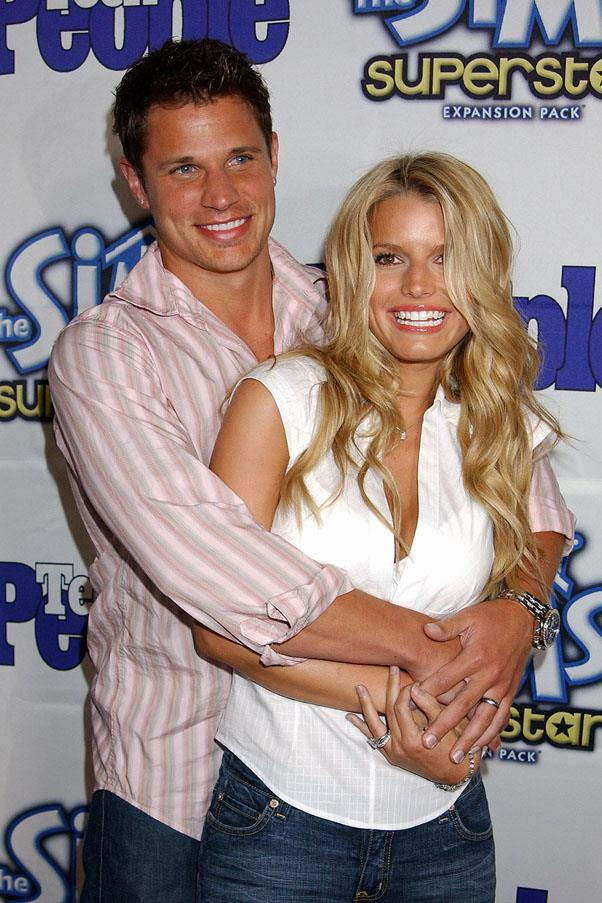 <strong>Nick Lachey and Jessica Simpson</strong> <br><br> The best thing about this relationships? Their television show, <em>Newlyweds: Nick and Jessica</em>