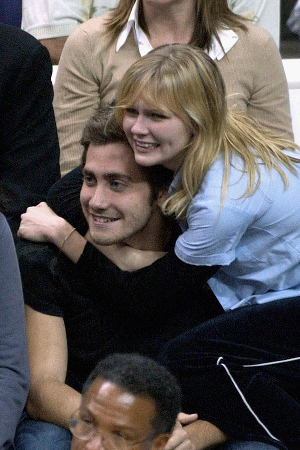 <strong>Jake Gyllenhaal and Kirsten Dunst</strong> <br><br> These two got together in 2002, and even had a dog together named Atticus.