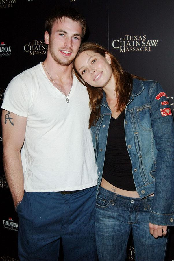 <strong>Jessica Biel and Chris Evans</strong> <br><br> Before he became Captain America and she started dating Justin Timberlake, they were an item for 5 years from 2001.