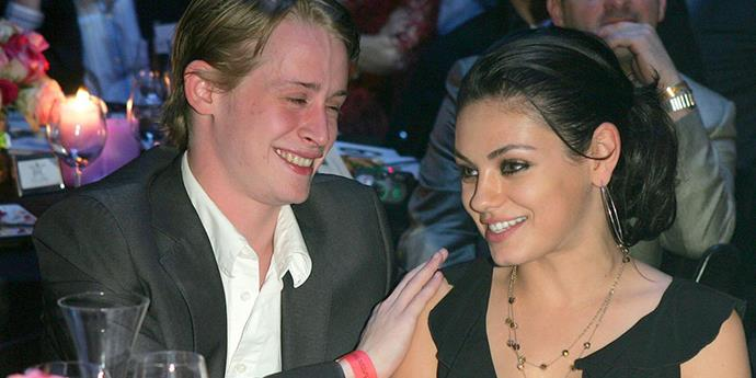 """<strong>Macaulay Culkin and Mila Kunis</strong> <br><br> One of Hollywood's longer lasting relationships, Mila and Macaulay were together for eight years. """"We grew up together,"""" she told <a href=""""http://www.people.com/people/article/0,,20298518,00.html"""">Women's Health</a> in 2009. """"You find a steady rock in your life and that's all you need. We have our ups and downs, but work through them."""""""