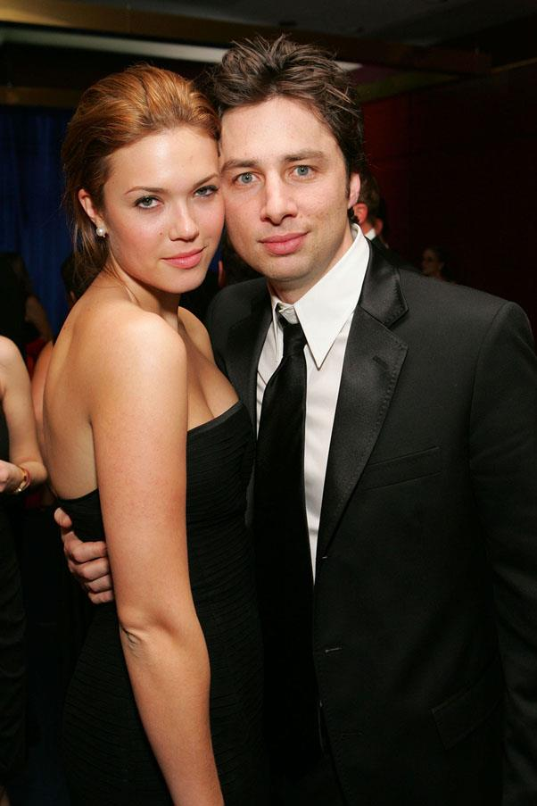 <strong>Mandy Moore and Zach Braff</strong> <br><br> They were super cute and dated for two years.
