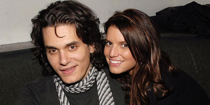 """<strong>John Mayer and Jessica Simpson</strong> <br><br> She was his """"<a href=""""http://www.usmagazine.com/celebrity-news/news/john-mayer-jessica-simpson-was-crazy-2010102"""">sexual napalm</a>"""" from 2006 to 2007."""