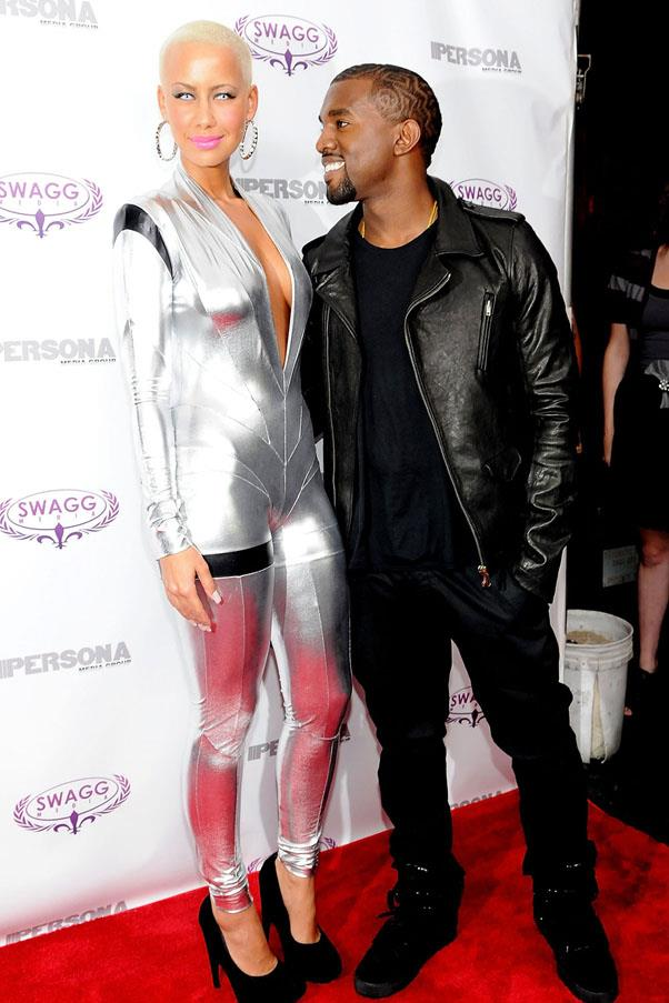 <strong>Kanye West and Amber Rose</strong> <br><br> Their breakup reportedly inspired 'Blame Game' on <em>My Beautiful Dark Twisted Fantasy</em>.