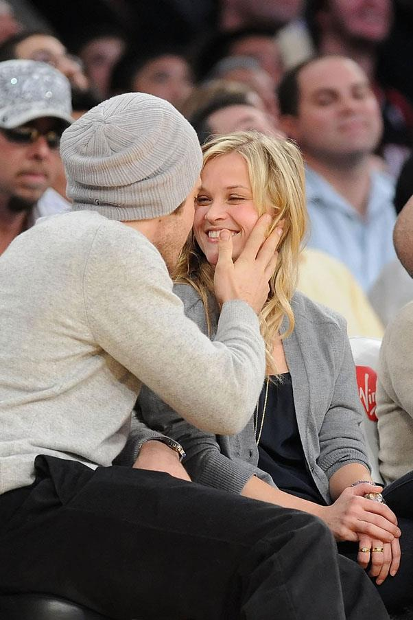 """<strong>Jake Gyllenhaal and Reese Witherspoon</strong> <br><br> Reese and Jake became a thing just after she split from Ryan Phillipe. This year, he called her """"one of the smartest, strongest people [he's] ever met."""""""