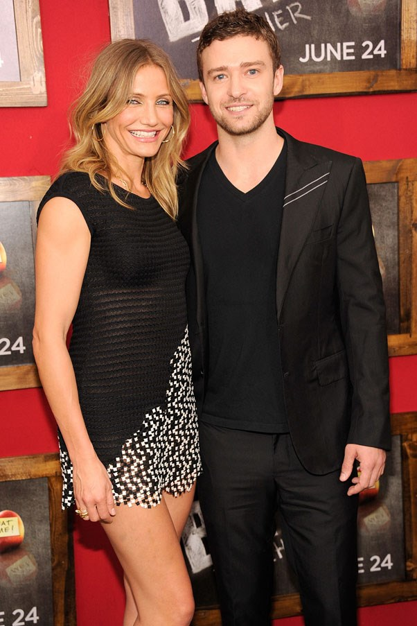 <strong>Cameron Diaz and Justin Timberlake</strong> <br><br> After they ended their three year relationship in 2006, they went on to star together in <em>Bad Teacher</em>.