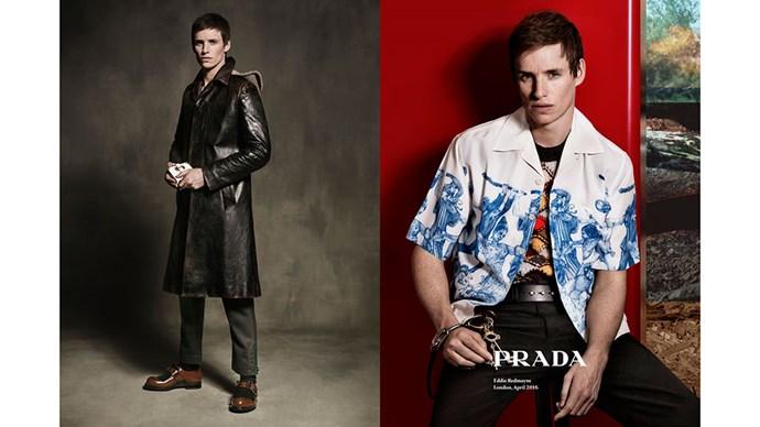 <strong>Prada menswear</strong><br><br> Modelled by Oscar-winning actor Eddie Redmayne, shot by Craig McDean