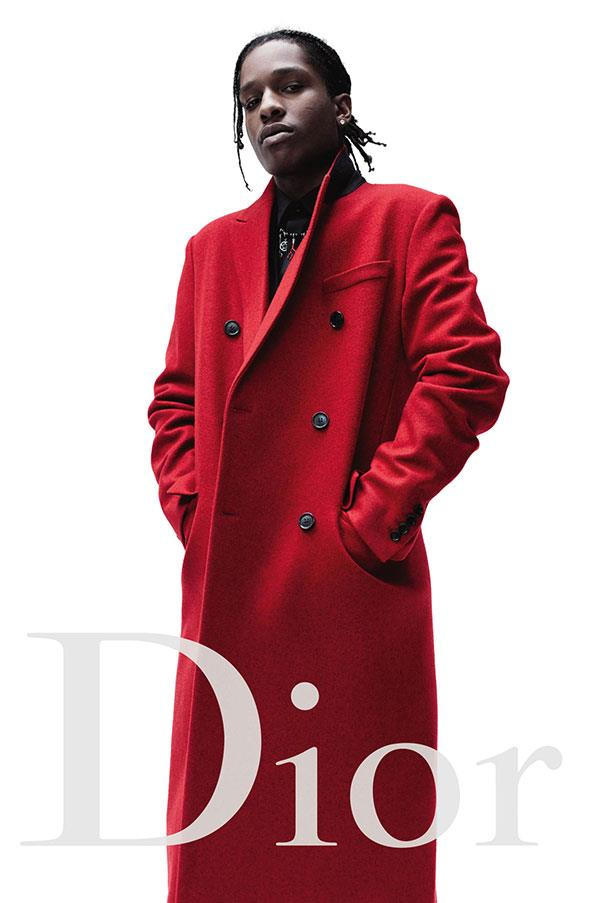 <strong>Dior Homme</strong><br><br> Modelled by rapper A$AP Rocky (pictured) and film director Larry Clark, shot by Willy Vanderperre