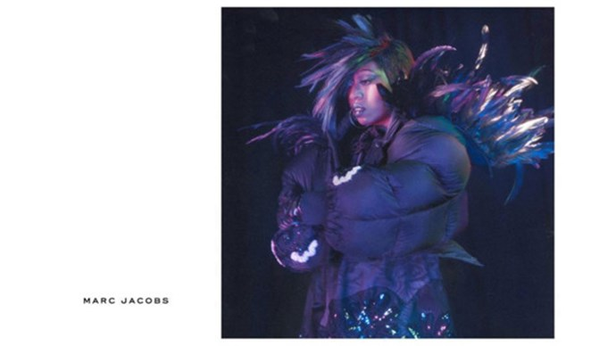 <strong>Marc Jacobs</strong><br><br> Modelled by Missy Elliot (pictured), Cara Delevingne, St. Vincent (pictured), Marilyn Monroe, Kendall Jenner and Sissy Spacek, shot by David Sims