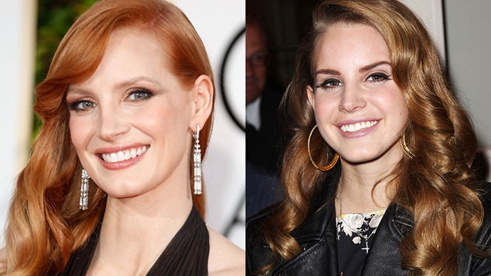 Jessica Chastain and Lana Del Rey