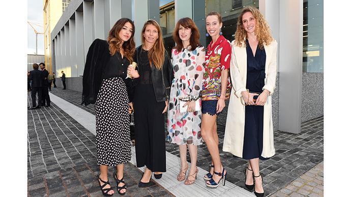 Valentina Scambia, Virginia Galateri di Genola, Caroline Corbetta, Micol Sabbadini and Margherita Puri Negri