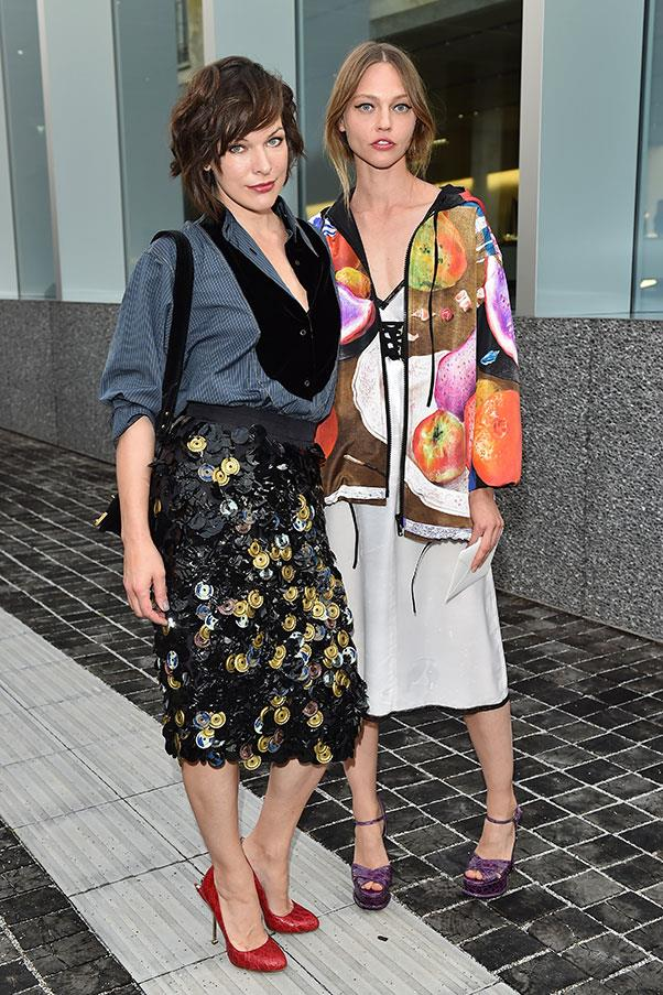 Milla Jovovich and Sasha Pivovarova