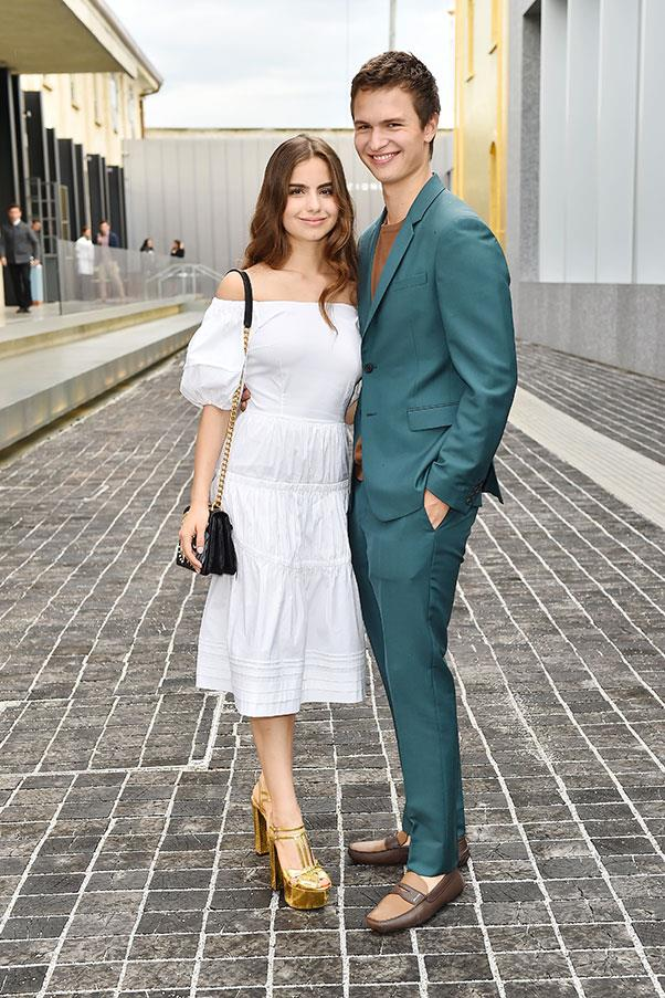 Violetta Komyshan and Ansel Elgort