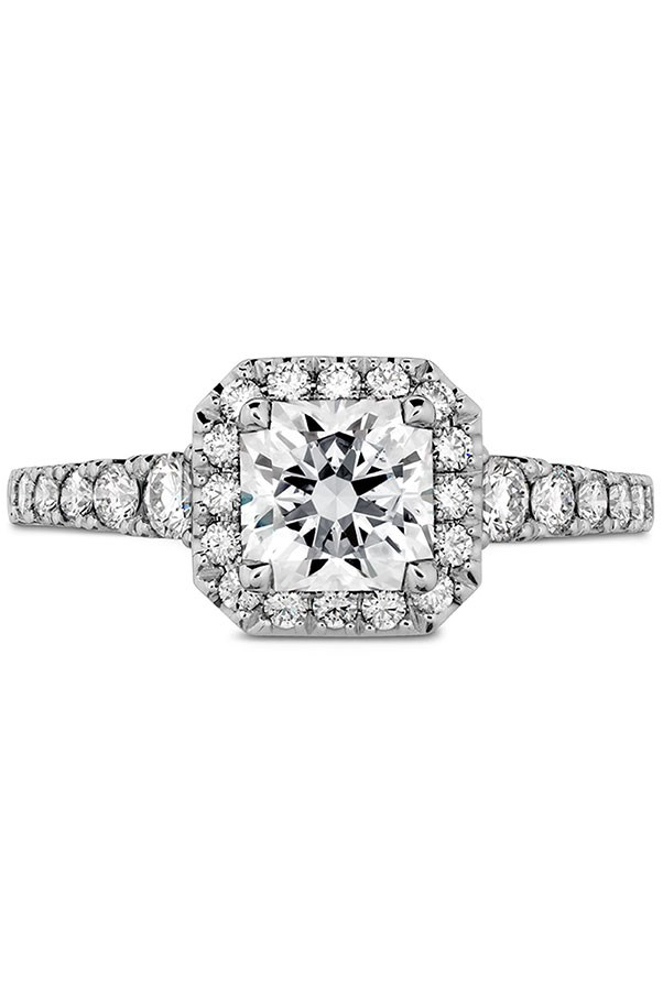 """<strong>Warm and Sweet</strong> <br><br> <strong>Your ring has:</strong> A halo setting <br><br> <strong>You are:</strong> A total softie, and you've got a serious romantic side. """"You love soft, ethereal, feminine things,"""" Sabatino notes. You take advantage of all nature has to offer and you probably always have a vase of fresh flowers on the cocktail table in your apartment. <br><br> <em>Hearts on Fire Transcend Premier Dream Halo Engagement Ring</em>, <a href=""""http://www.heartsonfire.com/shop-jewelry/rings/engagement-rings/transcend-premier-dream-halo-engagement-ring.aspx#McyHSXddw2g4ScZx.97"""">heartsonfire.com</a>."""