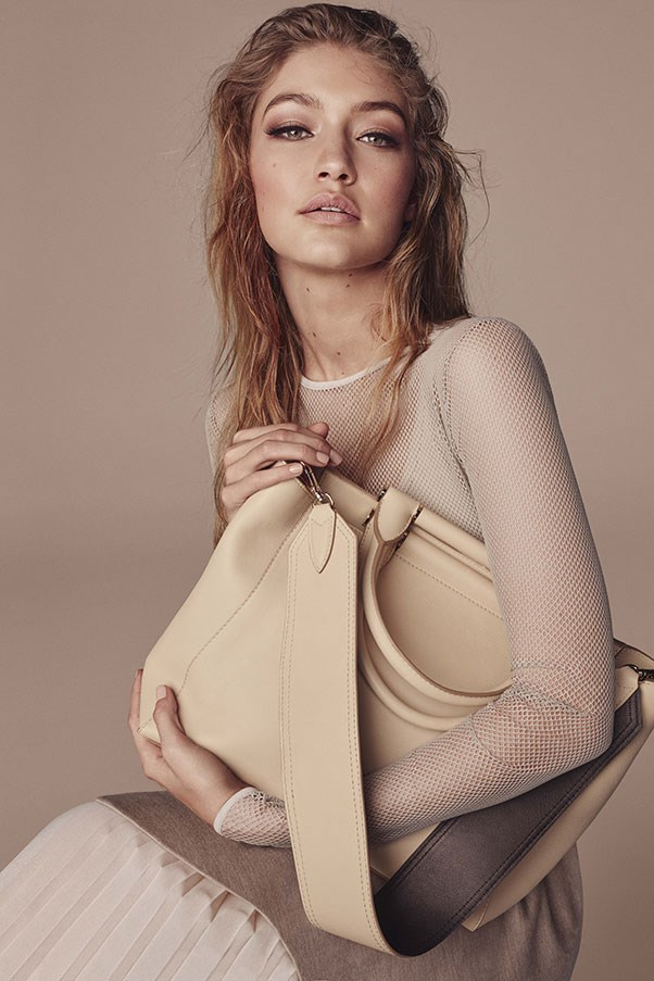 <strong>Max Mara Accessories</strong><br><br> Modelled by Gigi Hadid, shot by Steven Meisel